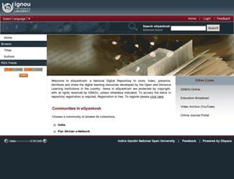 egyankosh.ac.in screenshot