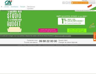 Main page screenshot of ca-aquitaine.fr