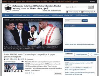msbte.info screenshot
