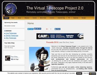 virtualtelescope.eu screenshot