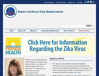 ahca.myflorida.com screenshot