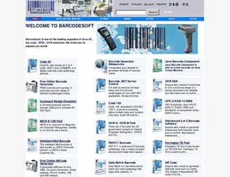 barcodesoft.com screenshot