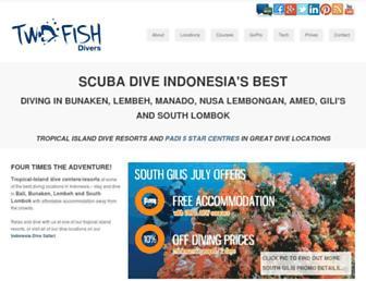 twofishdivers.com screenshot