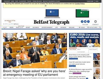 Main page screenshot of belfasttelegraph.co.uk