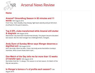 Thumbshot of Arsenalnewsreview.co.uk