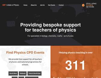 Main page screenshot of stimulatingphysics.org