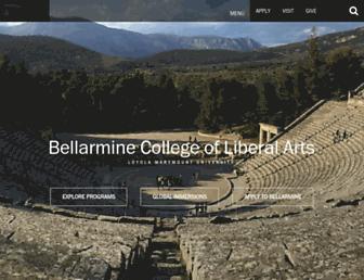 Main page screenshot of bellarmine.lmu.edu
