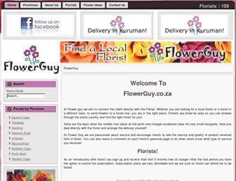 flowerguy.co.za screenshot