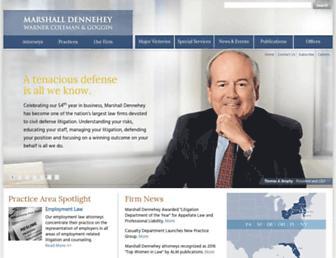 marshalldennehey.com screenshot