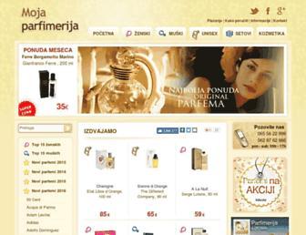 mojaparfimerija.com screenshot