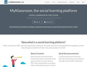 myklassroom.com screenshot