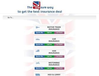onesureinsurance.co.uk screenshot