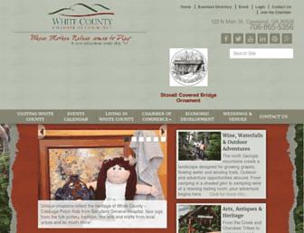 whitecountychamber.org screenshot