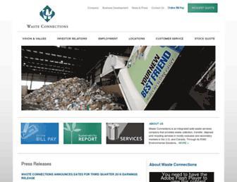 wasteconnections.com screenshot