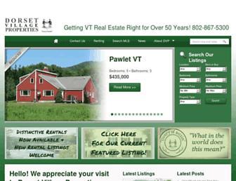 Main page screenshot of dvprop.net