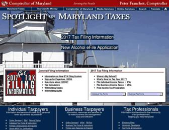 taxes.marylandtaxes.gov screenshot