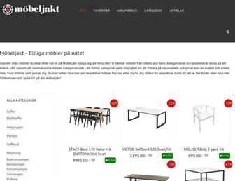 Main page screenshot of mobeljakt.se
