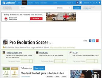 pro-evolution-soccer-2011.en.softonic.com screenshot