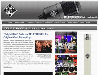 telefunken-elektroakustik.com screenshot