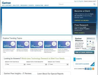 Thumbshot of Gartner.com