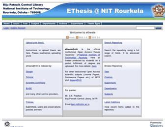 ethesis.nitrkl.ac.in screenshot