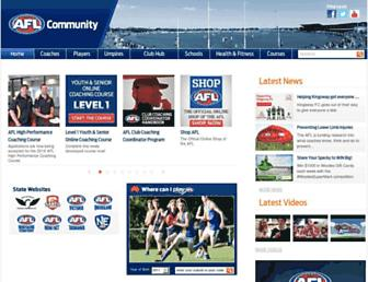aflcommunityclub.com.au screenshot