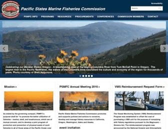 Main page screenshot of psmfc.org