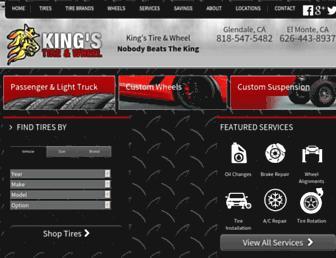 kingstireandwheel.com screenshot
