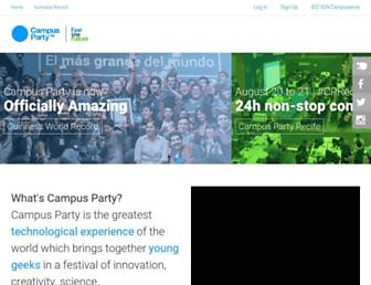Main page screenshot of campus-party.org