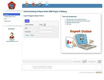raport.smkn10-mlg.sch.id screenshot