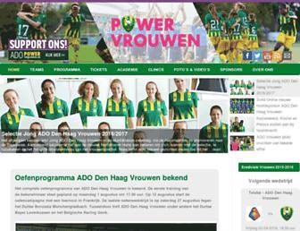 Main page screenshot of adovrouwen.nl
