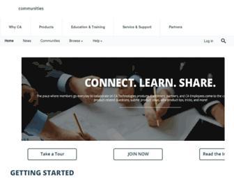 communities.ca.com screenshot
