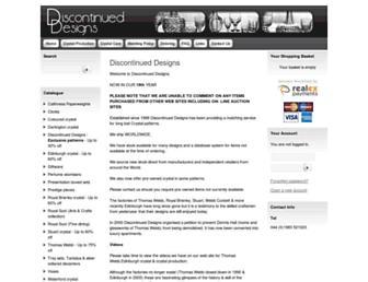 discontinueddesigns.co.uk screenshot
