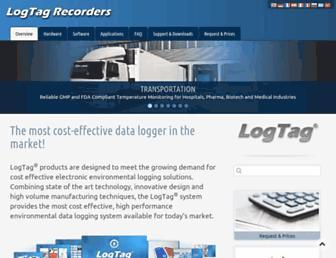 logtag-recorders.com screenshot