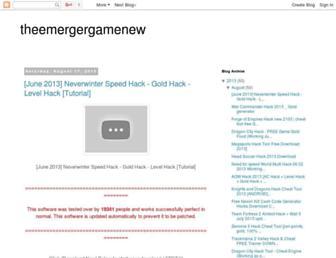 theemergergamenew.blogspot.com screenshot