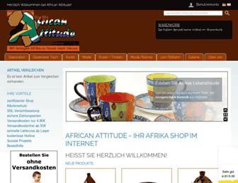 Main page screenshot of afrika-shop24.de