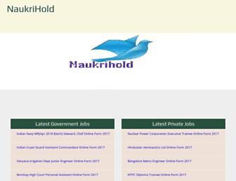 naukrihold.com screenshot