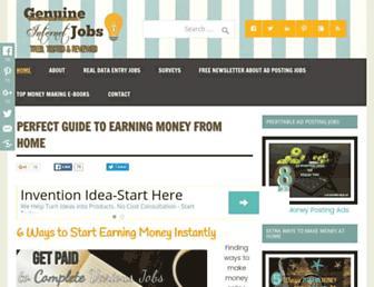 genuineinternetjobs.com screenshot