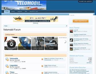 Main page screenshot of trikeforum.de