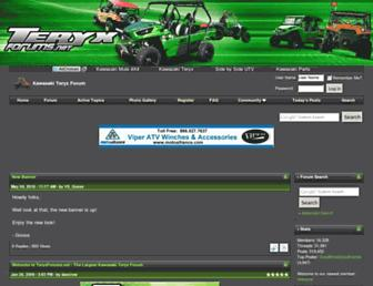 Main page screenshot of teryxforums.net