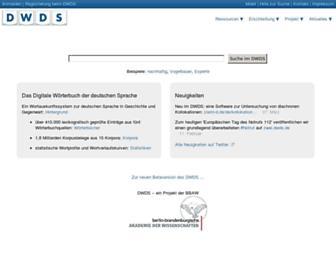 Thumbshot of Dwds.de