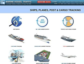 marinevesseltraffic.com screenshot