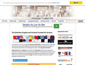 historicalkits.co.uk screenshot