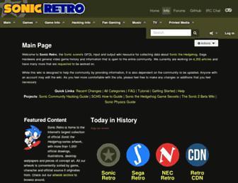 info.sonicretro.org screenshot