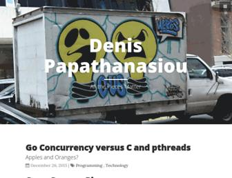 Main page screenshot of denis.papathanasiou.org