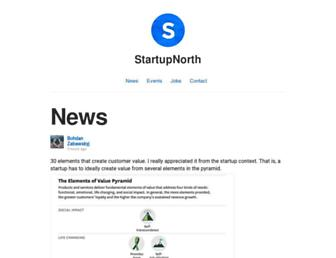 Main page screenshot of startupnorth.ca