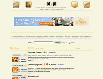 Main page screenshot of of.pl