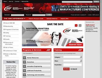 Main page screenshot of mb.cme-mec.ca