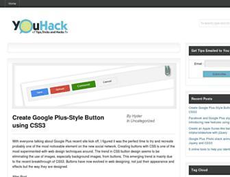 Main page screenshot of youhack.me