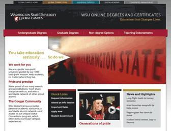 online.wsu.edu screenshot